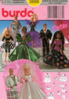 burda nº 3886 barbie